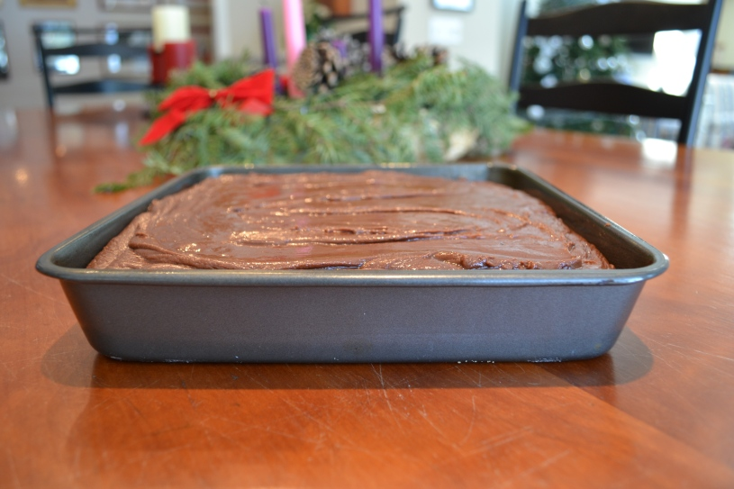 9 Fudge with wreath