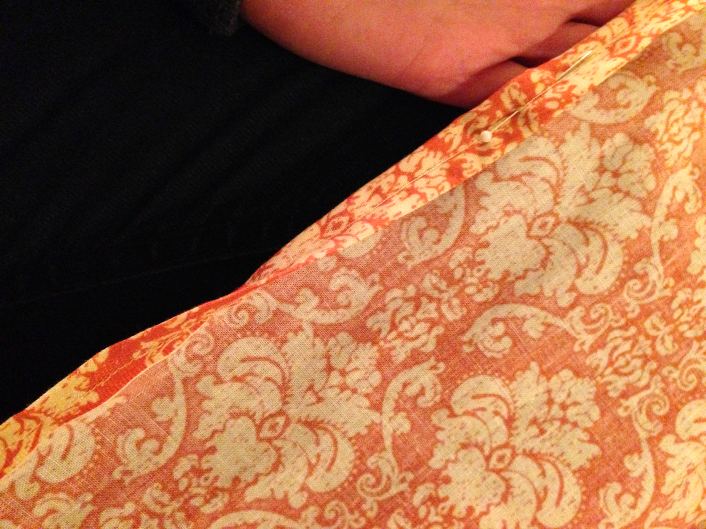 diy curtains - double fold sewn edge