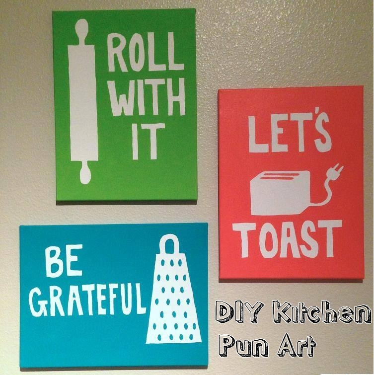 DIY Kitchen Pun Art Title