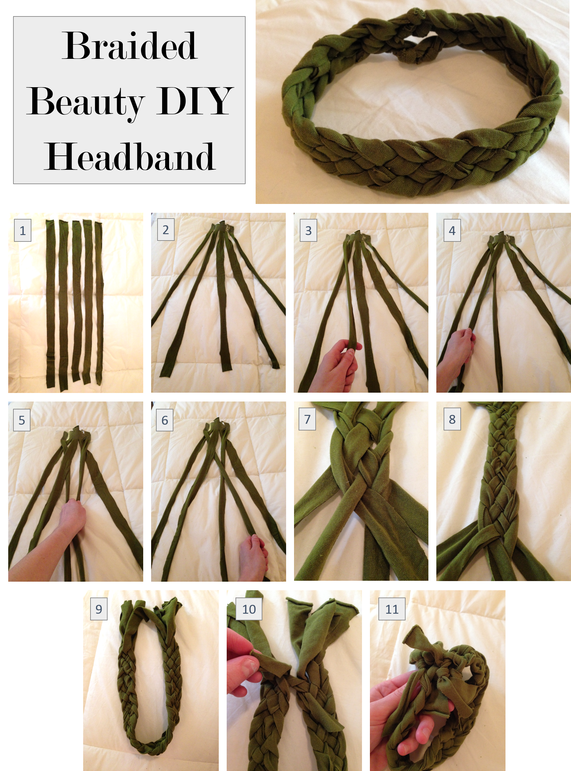 Hippie headbands diy bunny baubles braided beauty diy headband baditri Images