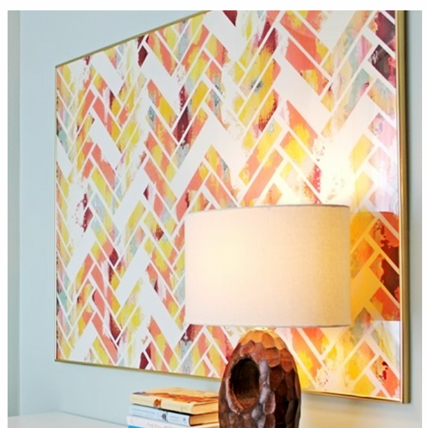 DIY Herringbone brick painting - inspiration