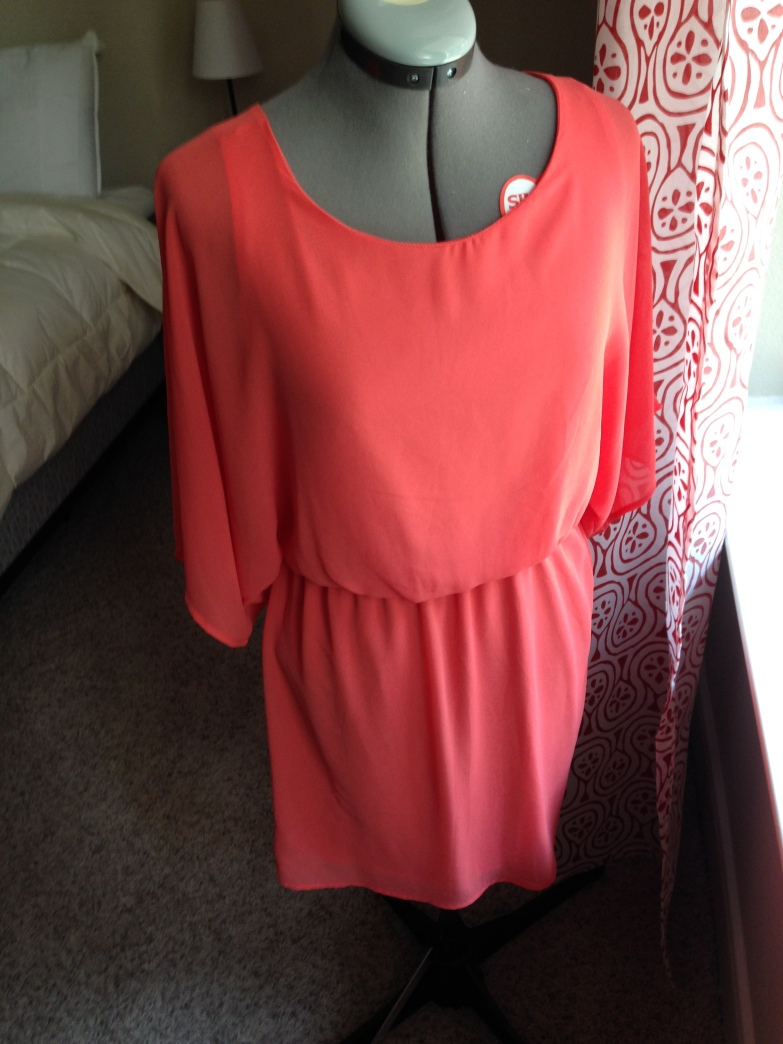 Refashioned Coral Dress - Original dress