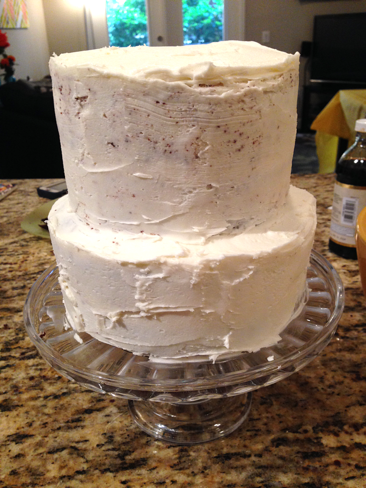 Layer Cake with Crumb Coat