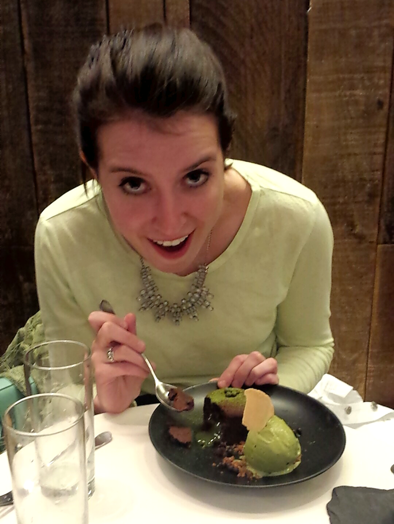 Green Tea Lava Cake at Spot