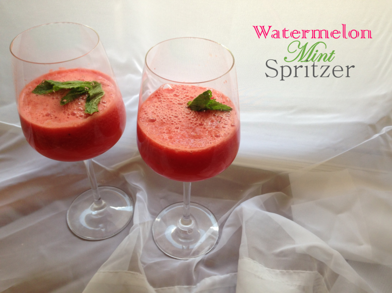 Watermelon Mint Spritzer Recipe from Bunny Baubles