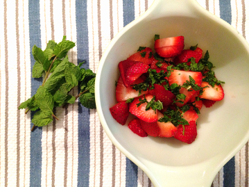 Strawberry Mint French Toast - Berries and mint