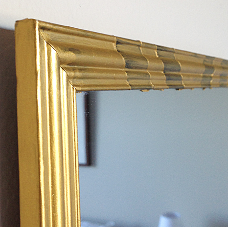 Modern Gilded Mirror DIY Layered Paint