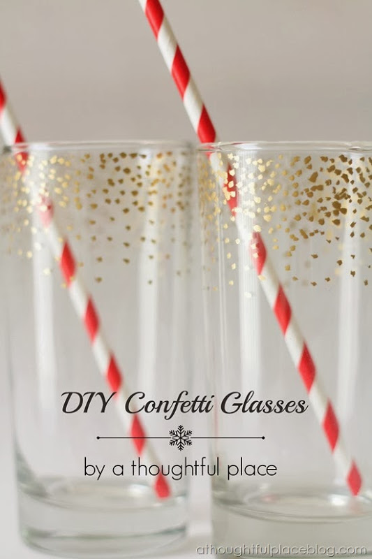 Gold Confetti Glasses