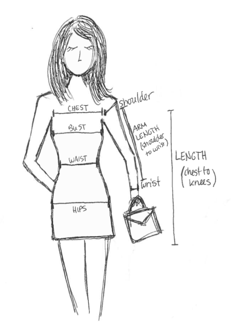 Measurement Guide by Bunny Baubles Blog