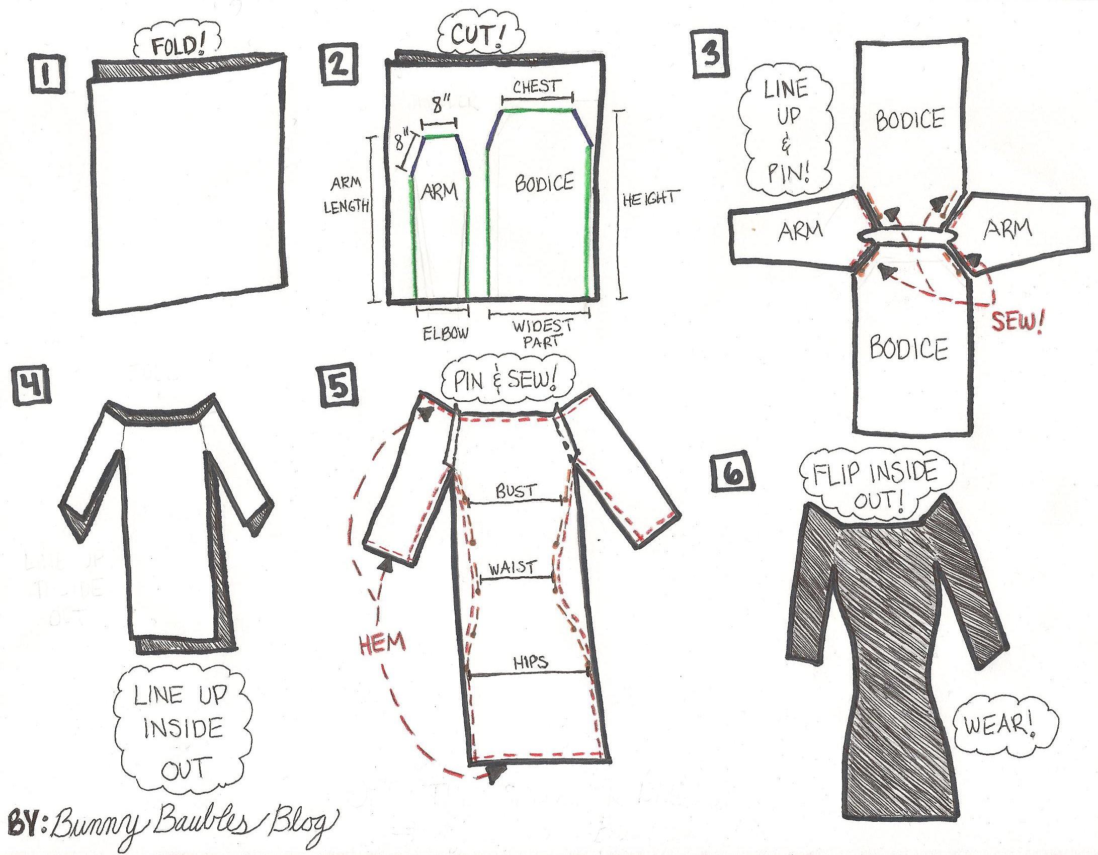 Off the Shoulder Dress Pattern