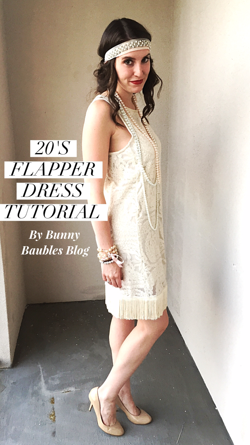 20s Flapper Dress Tutorial by Bunny Baubles Title