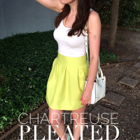 Chartreuse Pleated Skirt Sewing Tutorial