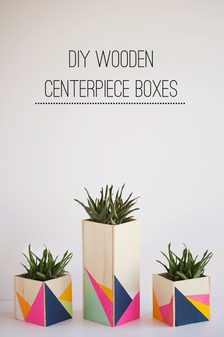 DIY WOODEN CENTERPIECE BOXES