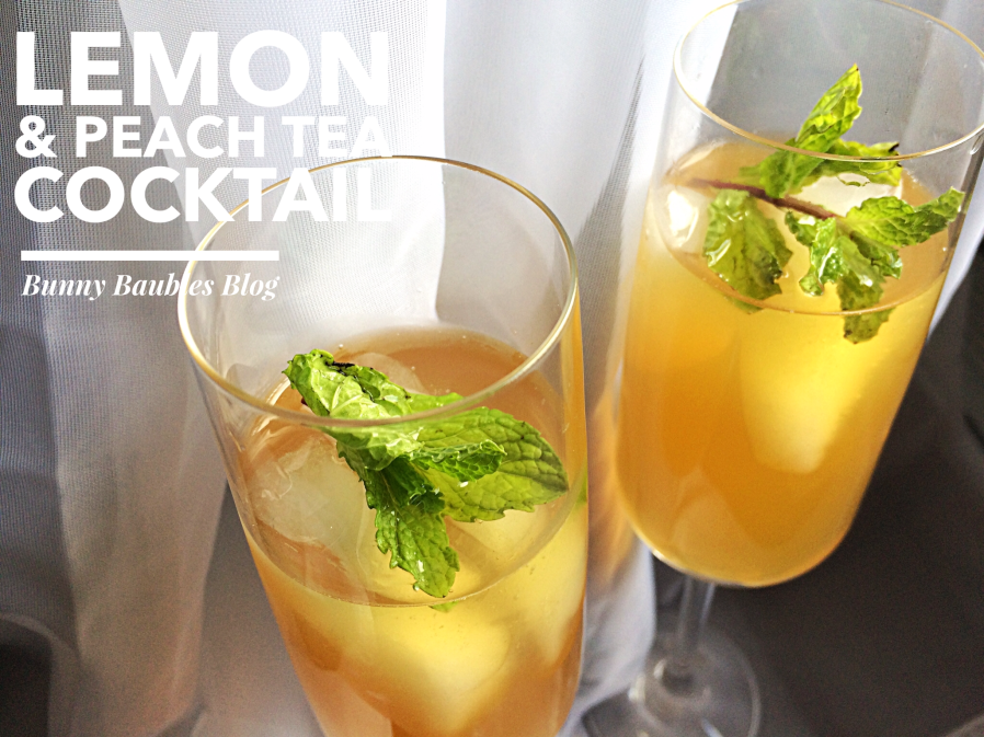 Lemon & Peach Tea Cocktail by Bunny Baubles