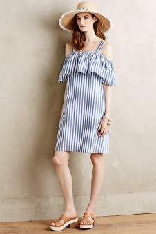 Anthropologie Rehoboth stripe mini dress