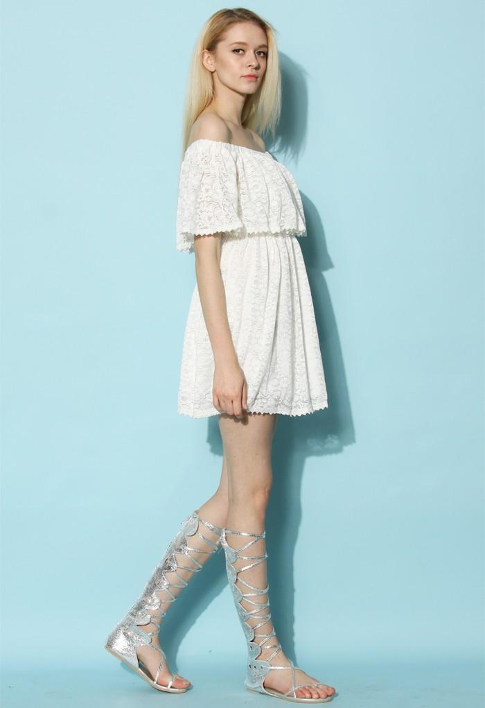 26ac0387f9ba Reformation Nashville Dress Chic Wish Lost in Lace off shoulder white dress  ...