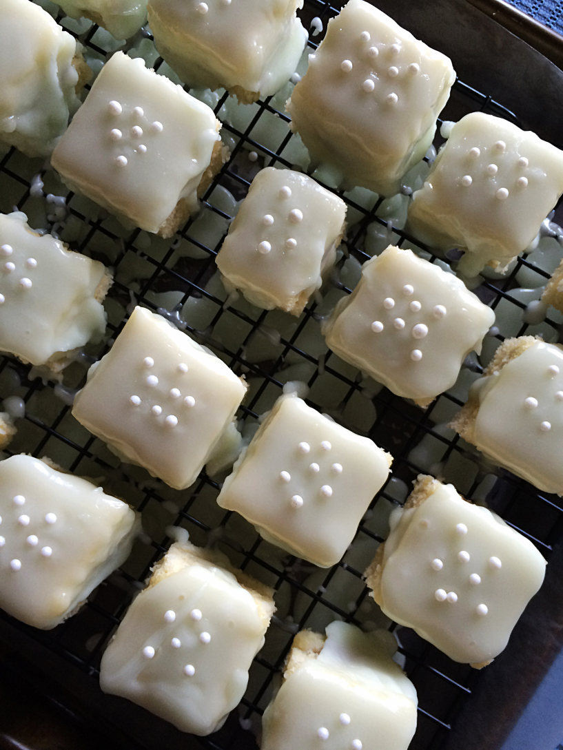 Casual Key Lime Petit Fours by Bunny Baubles 10