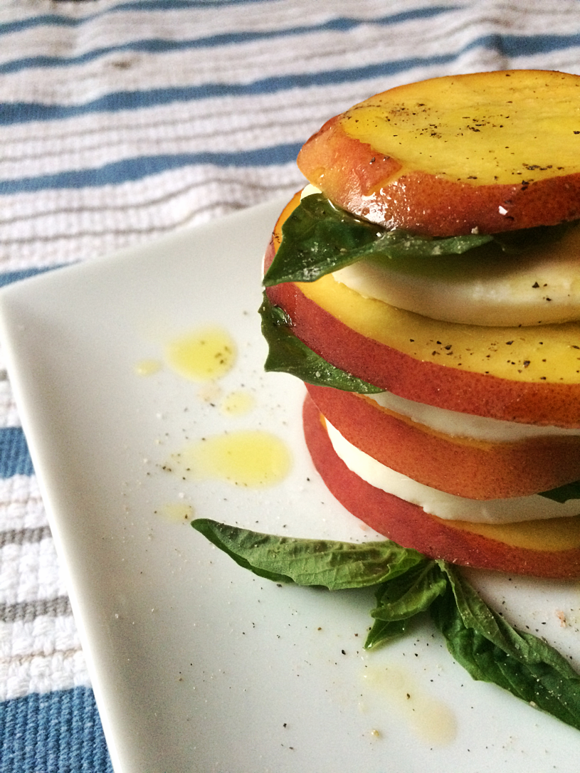 Peach Caprese Salad Stacks by Bunny Baubles Blog 2