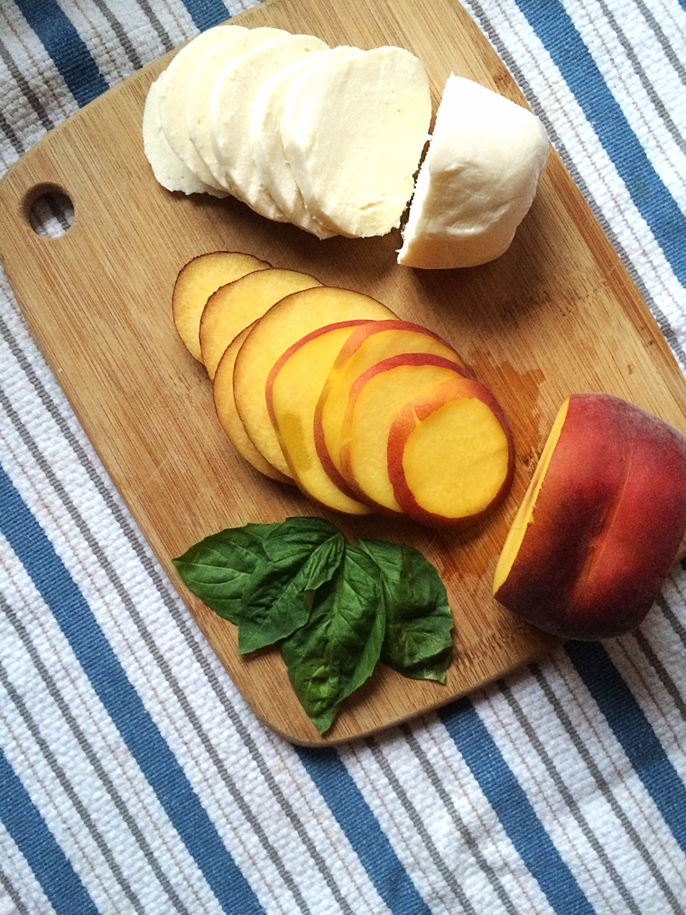 Peach Caprese Salad Stacks by Bunny Baubles Blog 4