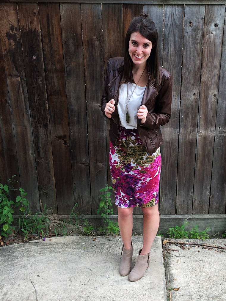 Transitional Floral Pencil Skirt Tutorial by Bunny Baubles 5