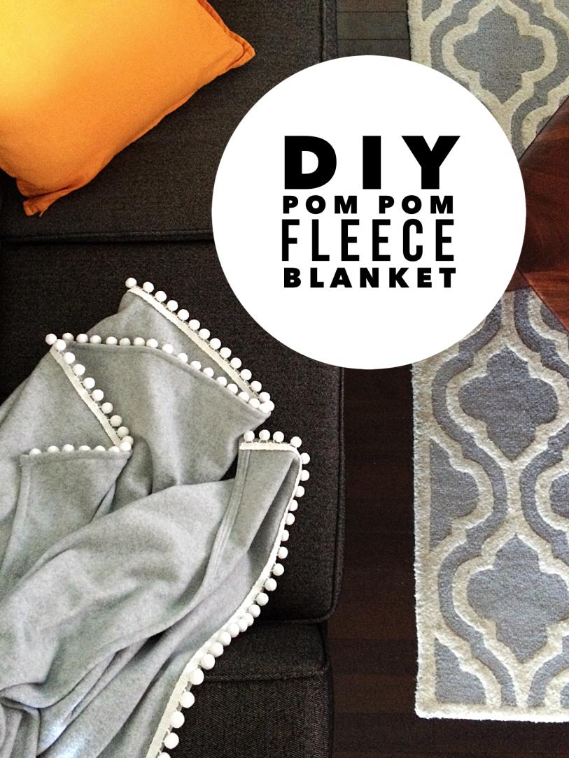 DIY Pom Pom Blanket by Bunny Baubles Blog