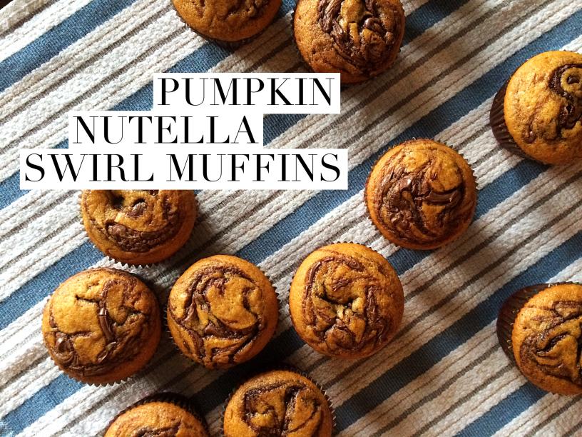 Pumpkin Nutella Swirl Muffins by Bunny Baubles Blog