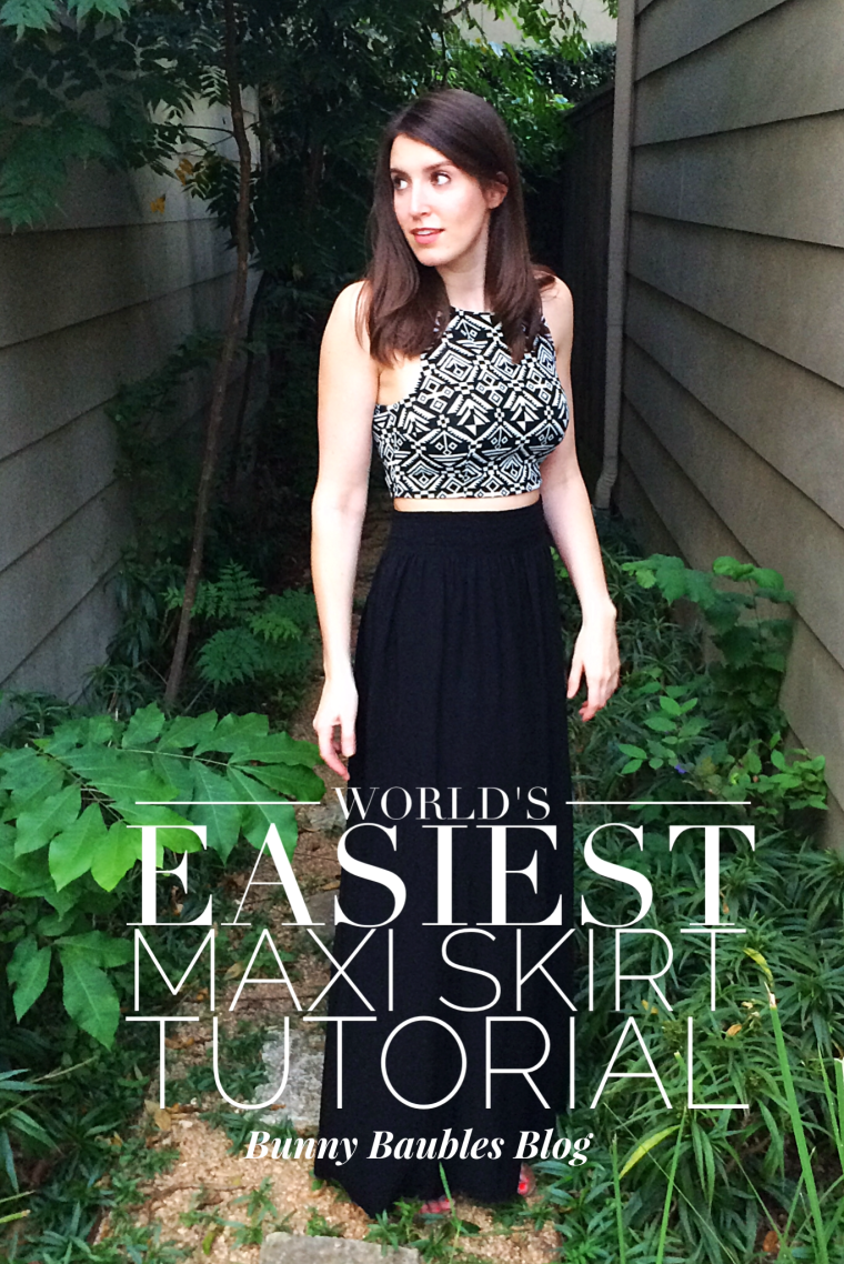 Worlds Easiest Maxi Skirt Tutorial by Bunny Baubles Blog