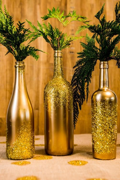 Gold Bottles DIY