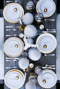 Sarah Sherman Samuel Gold and White table