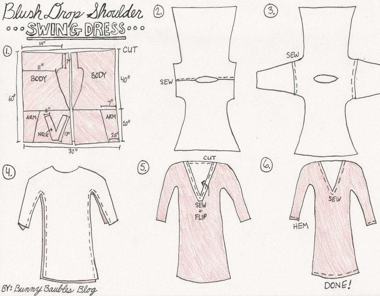 Blush Swing Dress Tutorial by Bunny Baubles