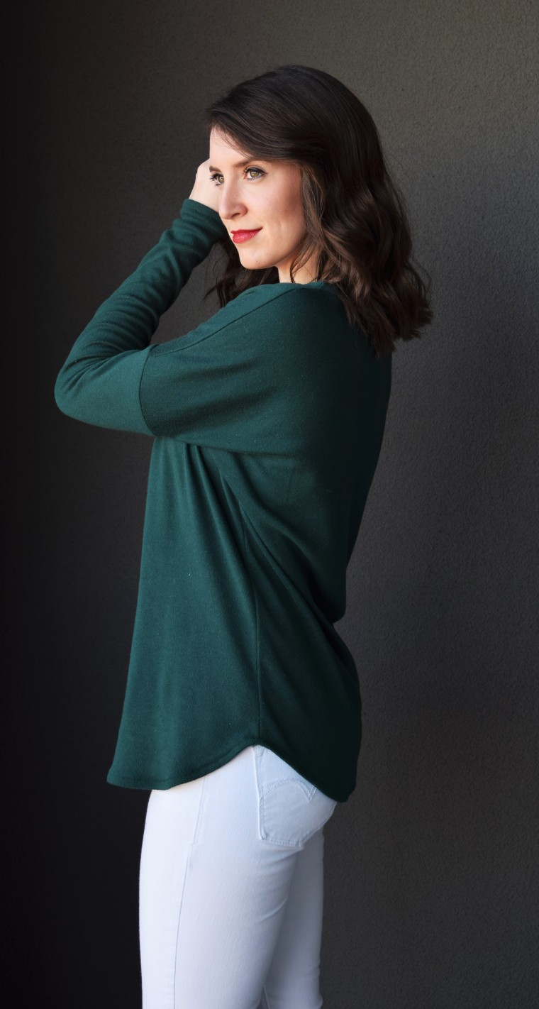 Drop Shoulder Long Sleeve Tee Tutorial by Bunny Baubles 6