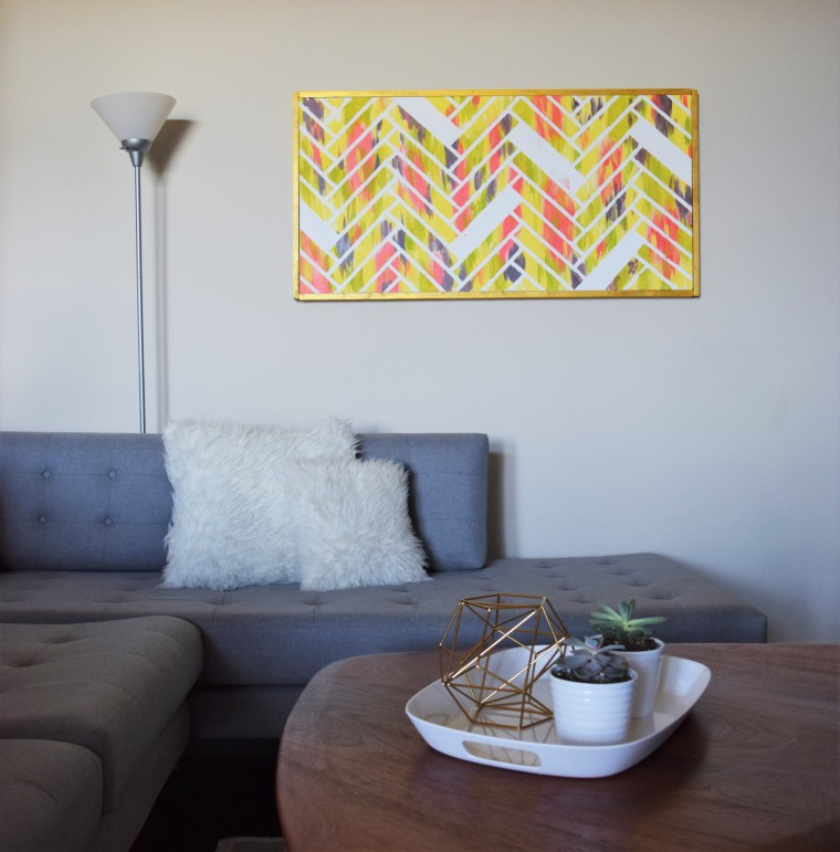 DIY Canvas Picture Frame by Bunny Baubles Blog 10