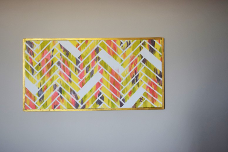 DIY Canvas Picture Frame by Bunny Baubles Blog 7