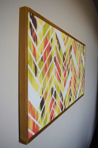 Herringbone Brick Patterned Art DIY