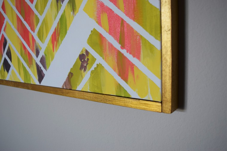 diy canvas picture frame by bunny baubles blog 9