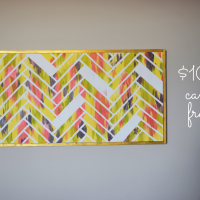 How to Make a DIY Canvas Picture Frame for under $10