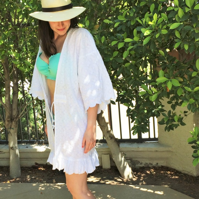 Scallopped Kimono Cover Up by Bunny Baubles Blog 3