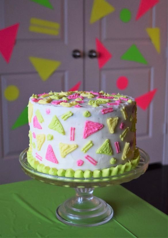 Marvelous 80S Patterned Birthday Cake Decorating Tutorial And Recipe Sew Funny Birthday Cards Online Elaedamsfinfo