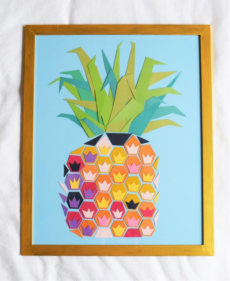 DIY Geometric Pineapple Art 13