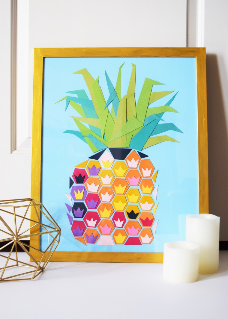 DIY Geometric Pineapple Art 14