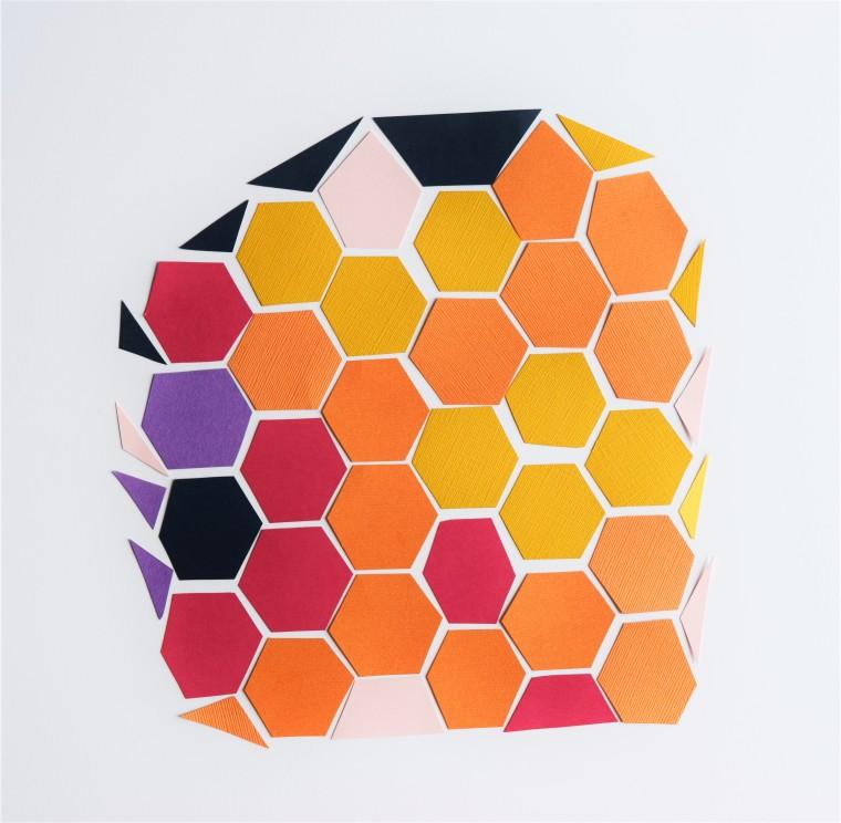 DIY Geometric Pineapple Art 4