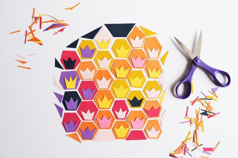 DIY Geometric Pineapple Art 6