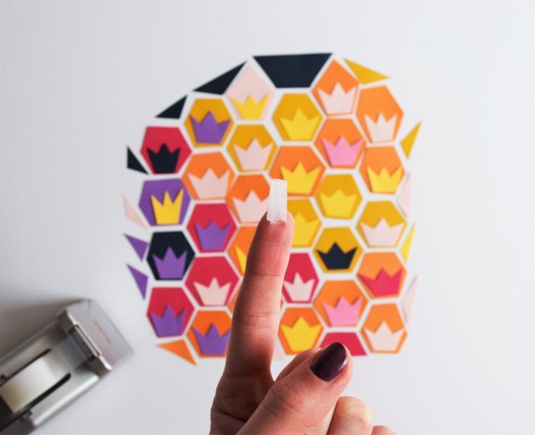 DIY Geometric Pineapple Art 7