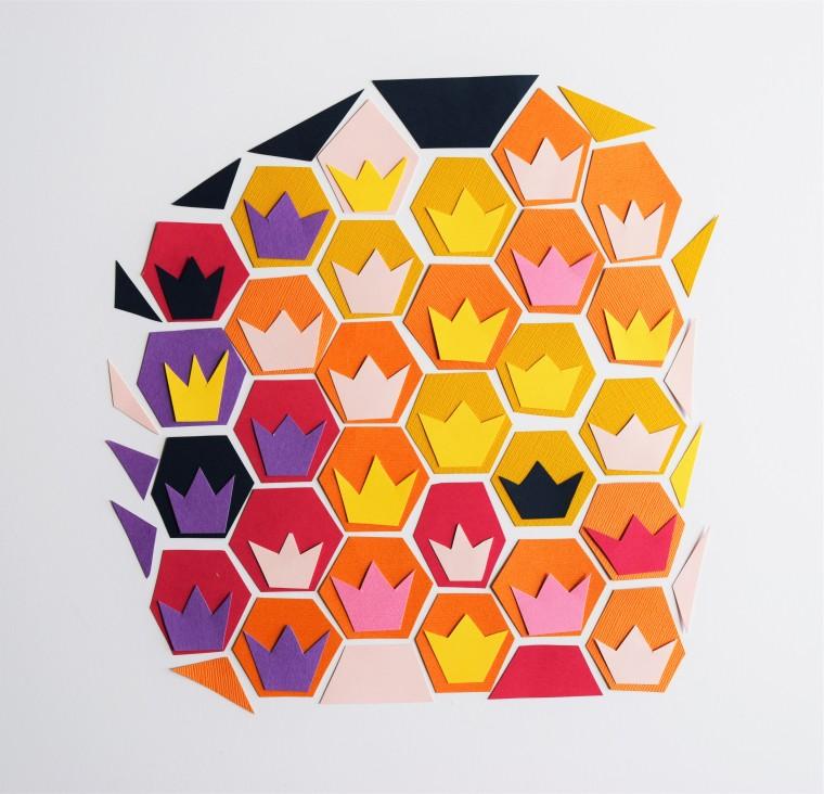 DIY Geometric Pineapple Art 8
