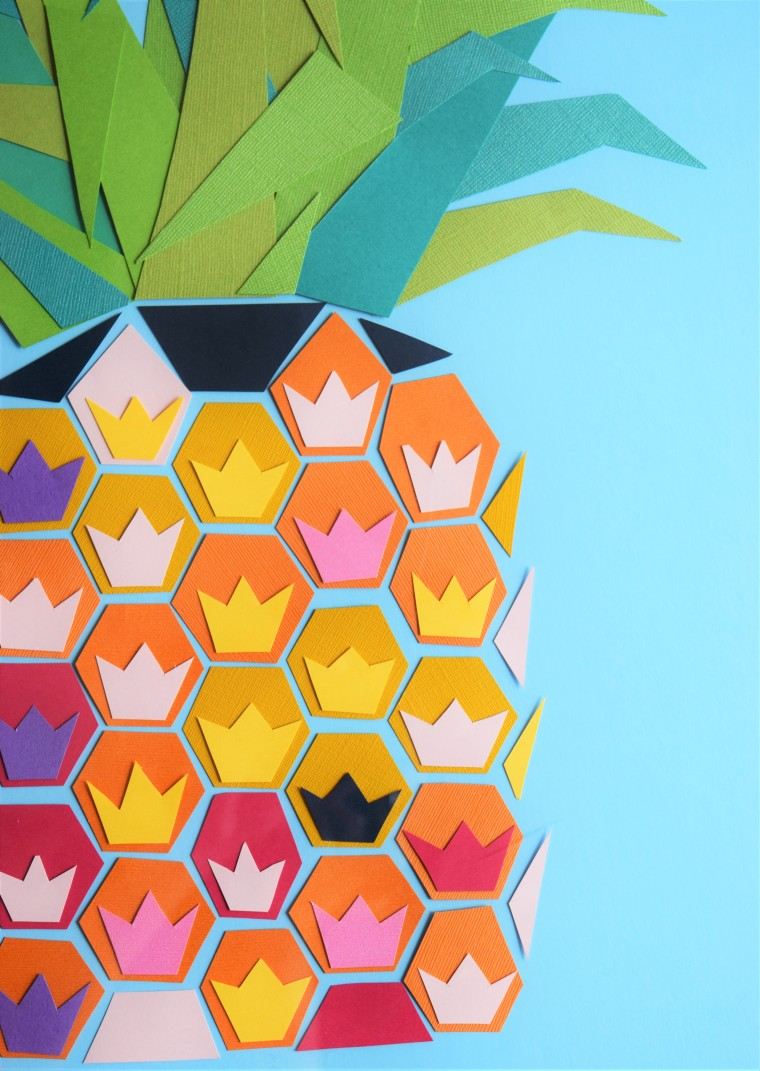 DIY Geometric Pineapple Art 9