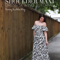 Off the Shoulder Maxi Dress Sewing Tutorial