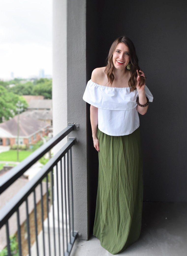 Off the Shoulder Ruffle Crop Top Sewing Tutorial DIY 2