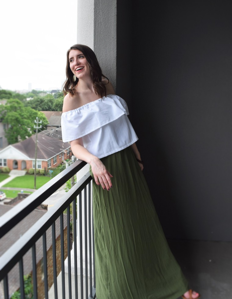 Off the Shoulder Ruffle Crop Top Sewing Tutorial DIY 4