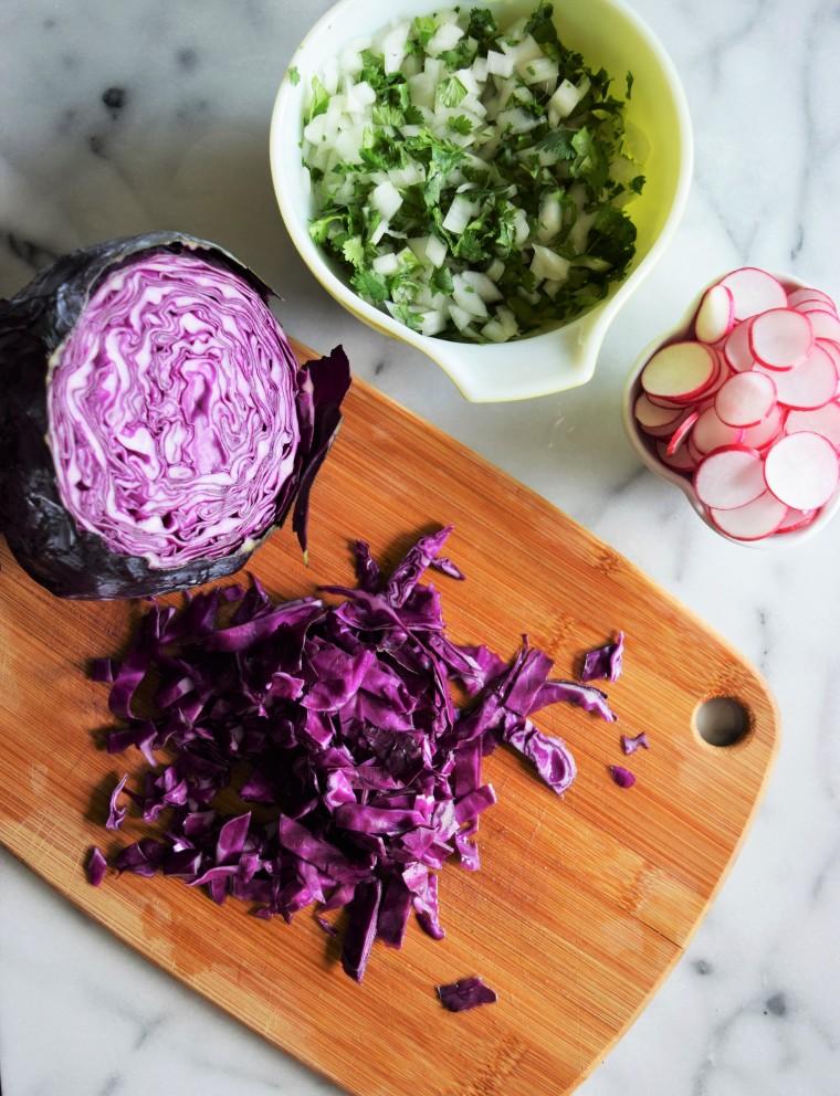 Colorful slow cooker pork taco recipe