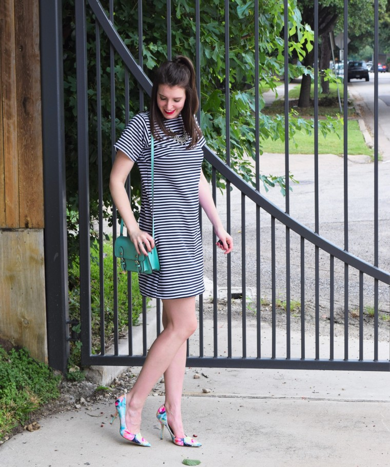 Striped Tee Shirt Dress Sewing DIY by Bunny Baubles 1